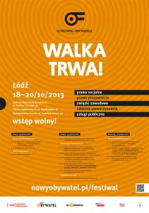 Walka trwa - IX Festiwal Obywatela - plakat