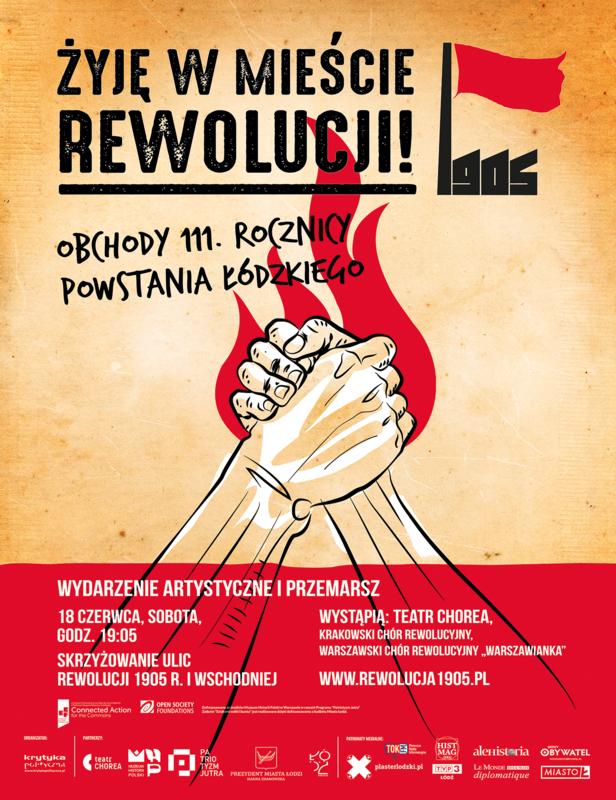 obchody rewolucji big plakat kolor PNG