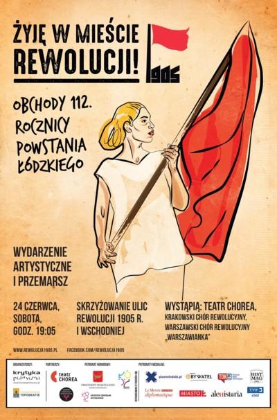 plakat powstanie łódzkie 1905-2017